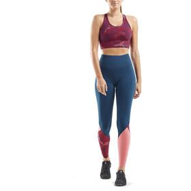 2XU Active Longline Medium Impact Crop Biustonosz sportowy Kobiety, blossom camo/poseidon